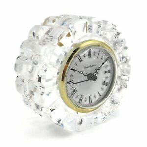 Tyrone Crystal Full Lead Handmade In Ireland Hechinger W Germany Quartz Clock