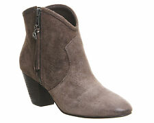Ash Suede Upper Material Ankle Boots for Women