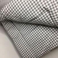 Pottery Barn Gingham Comforter Set Gray Queen 2 Standard Shams Check Quilt New