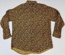 Gap button-front paisley long-sleeve dress shirt men sz XL multi-color
