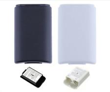 2 X Batería Controlador Xbox 360 cubre caso Pieza de Recambio-Blanco y Negro