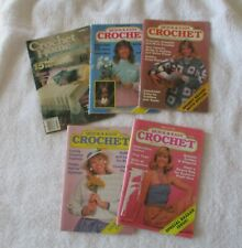 New listing Lot of 5 Vintage Quick & Easy Crochet & Crochet Home Magazines 1987-1993