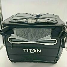Titan Deep Freez Cooler insulation Fordable Compact  for 30 Can Black Grey New