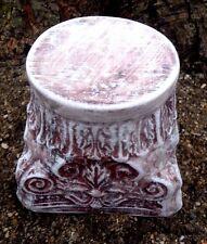 riser pedestal mold concrete casting garden ornament short birdbath stand mould
