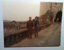 Vintage 80s Photo Cute Black African Woman In Europe Picture With Friend Smoking