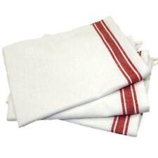 Aunt Martha's Retro Vintage Style Stripe Red Kitchen Dish Tea Towels Set of 3
