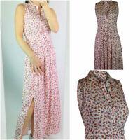 Dorothy Perkins Womens Ivory Pink Floral Print Ditsy Sleeveless Midi Maxi Dress