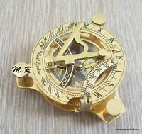 Nautical Hand-Made Solid Brass Working Sundial Compass - By Masco-Nauticals