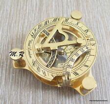 Nautical Hand-Made Solid Brass Working Sundial Compass - Nautical Sundial Compas