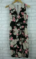 Country Road pencil dress black what black white pink floral print sleeveless