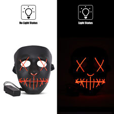 PURGE LED LIGHT UP HALLOWEEN COSTUME MOVIE COSPLAY NEW WITH TAG