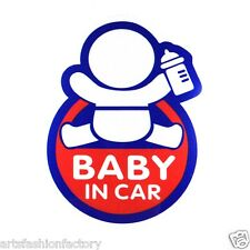 2 Baby in Car Baby Safety Sign Reflective Car Vinyl Sticker Window Decal Decor