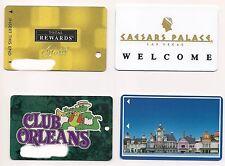 4 VEGAS CASINO CARDS- Caesars Rm Key,Casino Royale,Orleans,Total Rewards Players