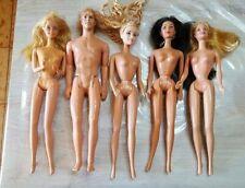BARBIE lotto  VINTAGE RARE 5 barbie + vestiti vintage mattel