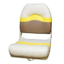 Lowe 1878815 Neutral / Yellow / Pewter Folding Fishing Boat Seat