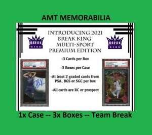 Boston Red Sox 2021 Break King Multi-Sport Premium 1X CASE 3X BOX BREAK #5