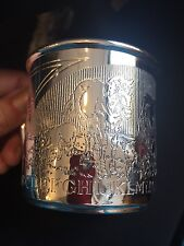 CHILD'S BABY CUP  R&B Etched - * REDUCED*  PRICE TIFFANY CLASS  SOLDERED SILVER