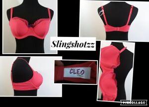 """NWT """"30DD"""" *Cleo by Panache Juna 6461* Strawberry Lined UW Balconette Bra"""