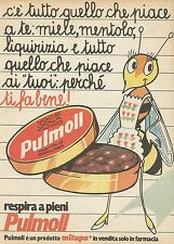 X7897 Pastiglie emollienti PULMOLL - Milupa - Pubblicità 1977 - Vintage advert.
