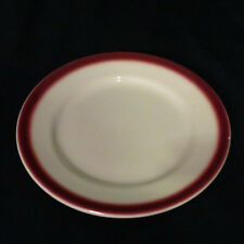 Buffalo China Plate Diner Restaurant Red Airbrushed Edge  Ironstone Vintage