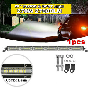 20inch 270W LED Light Bar Flood Spot Combo For Offroad SUV ATV 4WD +Accessories