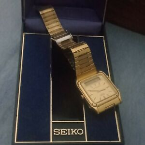 seiko mens watch Gold Vintage Digital and anologue alarm chronograph H449-5180
