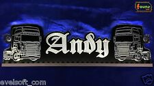 """Großes LED Leuchtschild LKW Truck """"Andy"""" Ihr Wunschname 12 o. 24V weiß ©faunz"""
