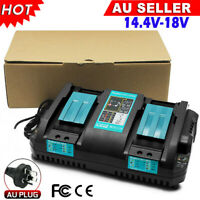 2 Port For Makita DC18RD LXT Li-ion 14.4/18V Rapid Battery Charger BL1860 BL1830