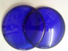 2 Stück Streuscheibe Scheinwerferglas BLAU HELLA 121207-01 1F3002476-191 d=145mm