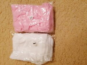 Girls Pantyhose Ballet Dance Tights Velour Age 2/4, 5/7 And 8/10 Pink Or White