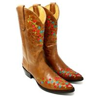 Yippee Ki Yay by Old Gringo Floral Embroidered Leather Womens Boots Size 7.5B