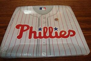 "MLB * PHILADELPHIA PHILLIES Baseball Party-10 1/2"" Plates  #18 Count  package"