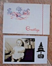 Old Photographic Personalised Christmas Greetings Photograph