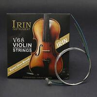 AV68 SET ~ Violin String Set 4/4 E Ball End AV68 A,D,G, Silver Color