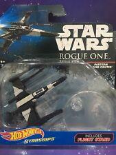 Star Wars Rogue One-Hot Wheels Die Cast partidista Wing Luchador con soporte de vuelo