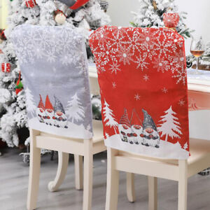Red Chair Cover Santa Claus Table For Party Dining Chair Covers Decorations