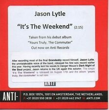 (871Y) Jason Lytle, It's The Weekend - DJ CD