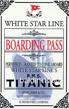 TITANIC BOARDING CARD - BEAUTIFUL POSTER  PRINT - LOOKS AWESOME FRAMED