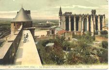 CARCASSONNE 57 LL remparts intérieurs église saint-nazaire écrite 1913