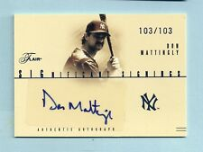 DON MATTINGLY 2005 FLAIR SIGNIFICANT SIGNATURES AUTOGRAPH AUTO # 103/103