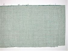 Vintage Chinese Indigo from Songjiang Hand woven cotton Natu & Green plaid 1yard