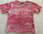 Major Cutie Chicago Army Pink Camo Camouflage Girls Small (6-8) T-shirt