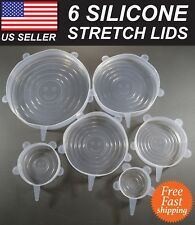 Stretch Lids - Reusable Silicone Stretchable Food Storage Container Lids (6pcs)