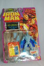 MARVEL COMICS IRON MAN GREY GARGOYLE WITH STONE HURLING ACTION TOYBIZ 1994 MOC