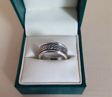 925 Sterling Silver Celtic Design Spinner Ring Size S