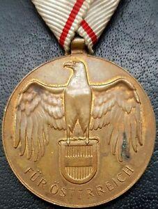 ✚10017✚ Austrian post WW1 War Commemorative Medal Without Swords non combatants