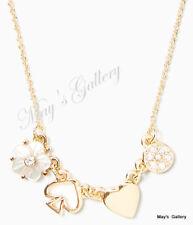 Kate Spade Handbag Necklace Pendant Gold tone with crystal  Dust Bag NWT  KSNY