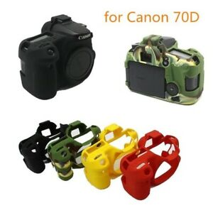 New Soft Silicone Camera Bag for Canon EOS 70D 77D 750D Camera Rubber Cover