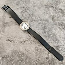 Vintage Watch PEOPLE Black & Silver Toned Hypoallergenic Wristwatch Watch (GOOD)