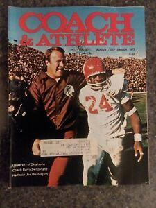 1975 Coach & Athlete OU Football SWITZER WASHINGTON Free Shipping